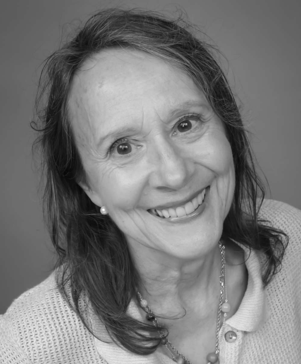 Black and white head shot of Way to Wellville founder Esther Dyson